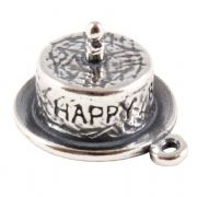 Birthday Cake With One Candle Sterling Silver Charm